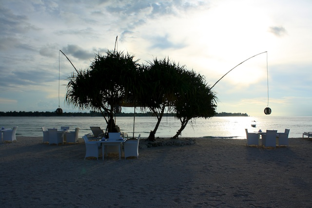 Gili Inseln Strandbar